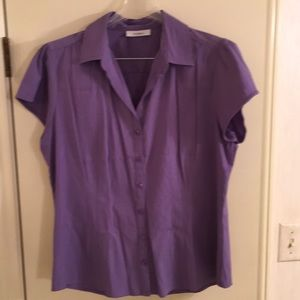 Dressbarn short sleeve shirt Lavender purple